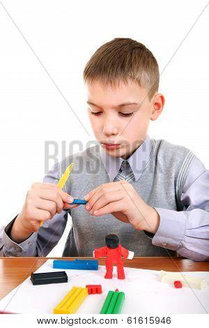 Boy Play With Plasticine