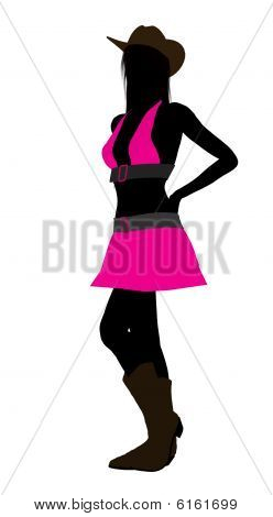Cowgirl Illustration Silhouette