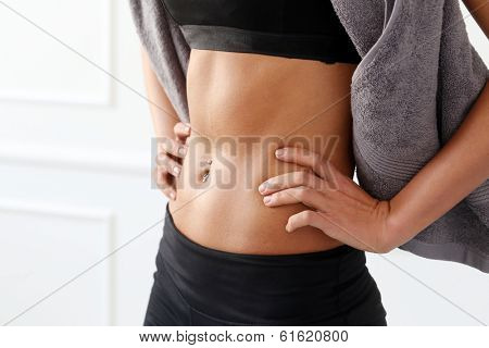 Navel with piercing