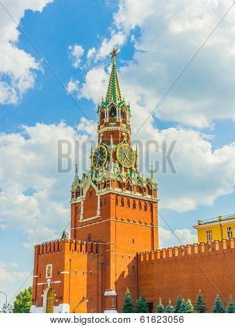 Spasskaya (saviour) Tower Of The Moscow Kremlin