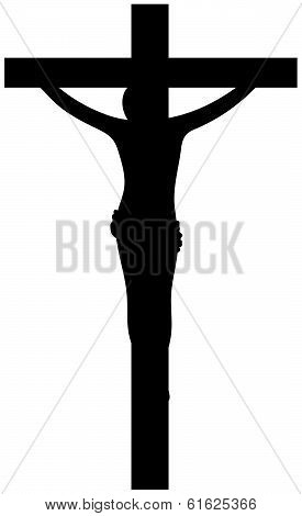 Crucifixion of Jesus Christ  Black Silhouette