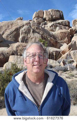 Senior Man Joshua Tree National Park California