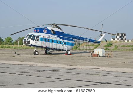 Mi-8 Helicopter At An Airfield In The Crimea