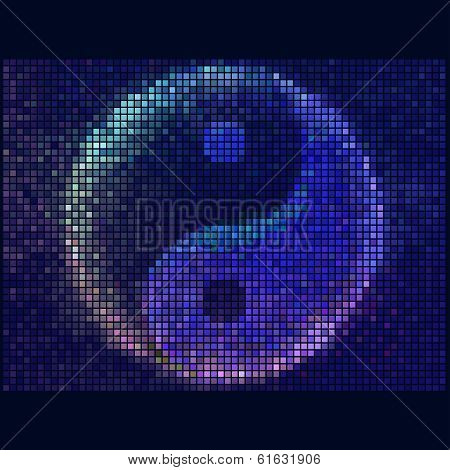 Ying yang symbol of harmony and balance. Abstract Colorful Round