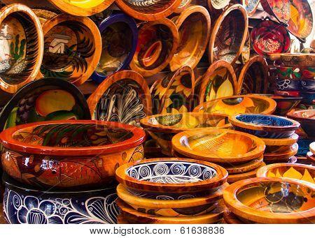 Pottery at the Saturday market.