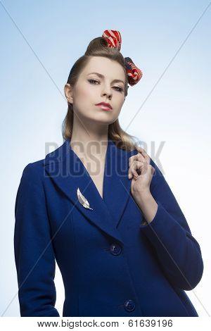 Sexy Elegant Vintage Girl