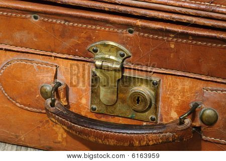 Suitcase Made Out Of Leather