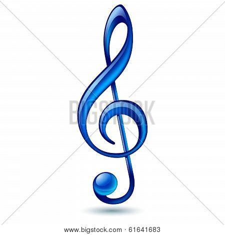 Blue treble clef