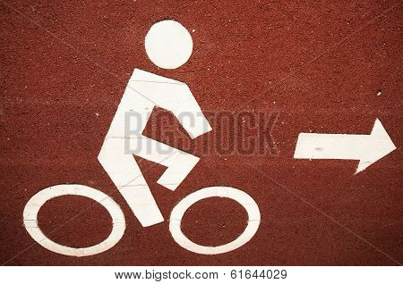 The bicycle lane