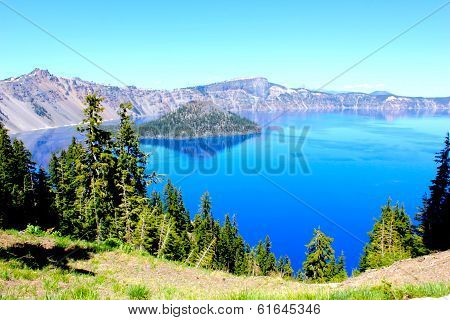 Crater Lake National Park in summer