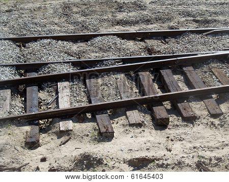 Old rail road train tracks