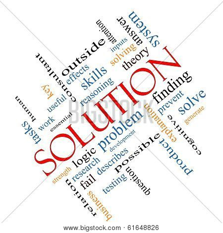 Solution Word Cloud Concept Angled