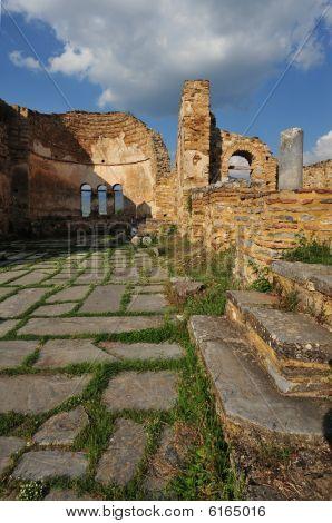 Agios Achillios ruins Prespa lake Greece