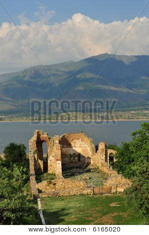Agios Achillios basilica Prespa lake Greece