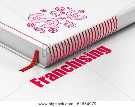 Finance concept: book Finance Symbol, Franchising on white background
