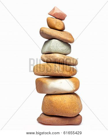 Isolated Stack Of Stones