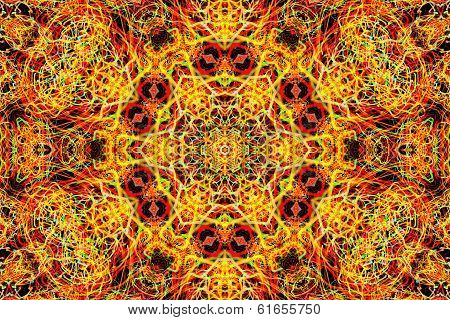 Background With Abstract Luminous Pattern