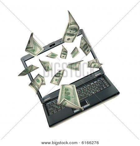 Laptop And Dollars