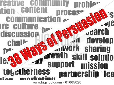 38 Ways Of Persuasion Word Cloud