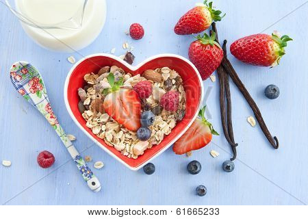 Muesli With Fresh Berries