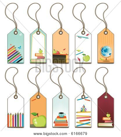 Back to school - tags set.