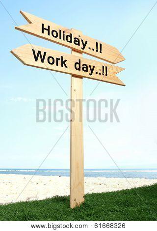 Wood Signboard