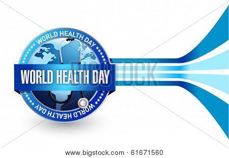World Health Day Seal Illustration Design