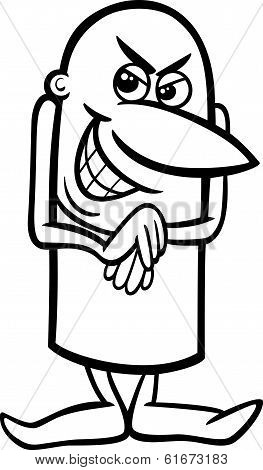 Mischievous Guy Coloring Page
