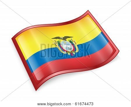 Ecuadorian Flag Icon.