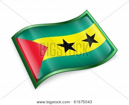 Sao Tome Flag Icon.