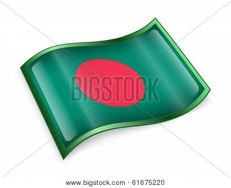 Bangladesh Flag Icon.