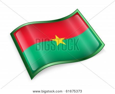 Burkina Faso Flag Icon.