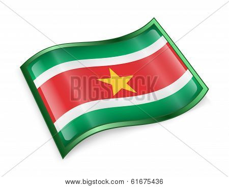 Suriname Flag Icon.