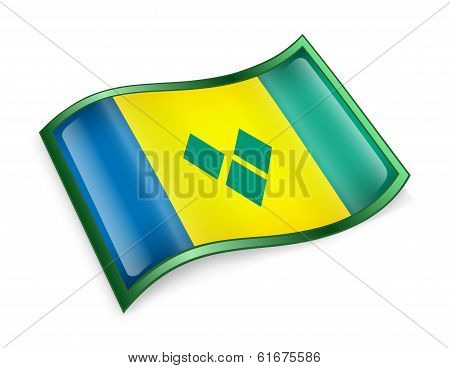 Saint Vincent And The Grenadines Flag Icon.