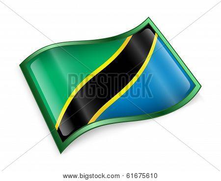 Tanzania Flag Icon.