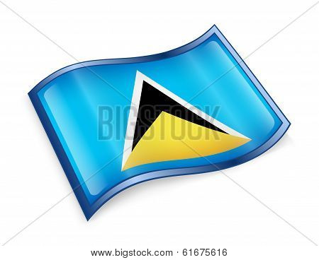 Saint Lucia Flag Icon.