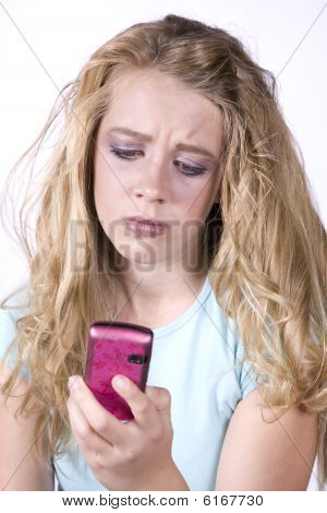 Girl With Phone Frustrated