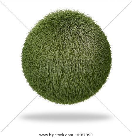 Fluffy grass-like sphere