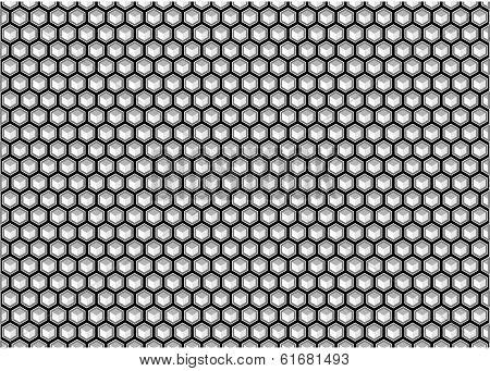 Hexagon Background Black And White
