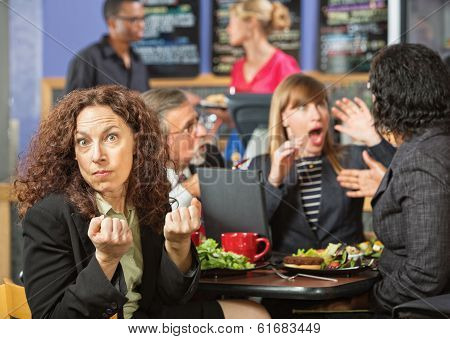Angry Woman With Coworkers