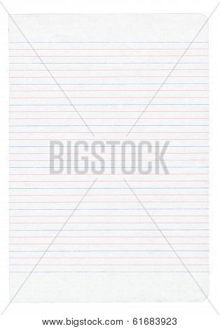 Notebook Paper With Colorful