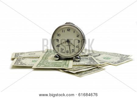 clock and money