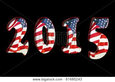 New Year 2015 US Flag