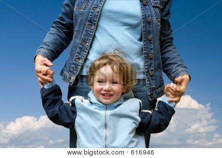 Happy Child With Mum
