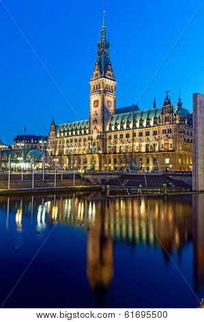 The townhall of Hamburg