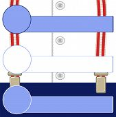 image of suspenders  - signboard on suspenders for trousers - JPG