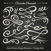 Постер, плакат: Decorative Ornaments Chalkboard 1