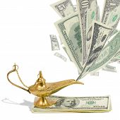 image of aladdin  - Money fly out of Aladdin - JPG