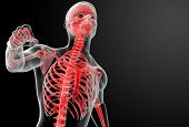 pic of radiation therapy  - Running skeleton by X - JPG