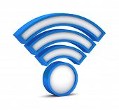 3D Wifi Icon On A White Background